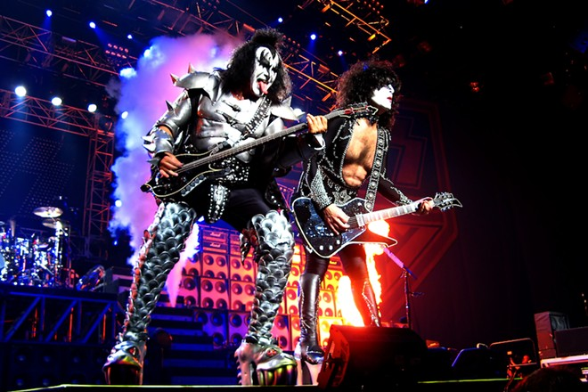 KISS will give metro Detroit a kiss goodbye ... finally. - PHOTO BY KEITH TARRIER/SHUTTERSTOCK.COM