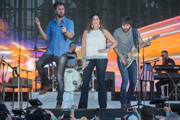 Lady Antebellum doing their thing. - SHUTTERSTOCK