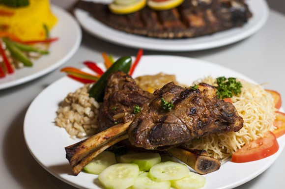 Michui (grilled lamb shanks) - TOM PERKINS