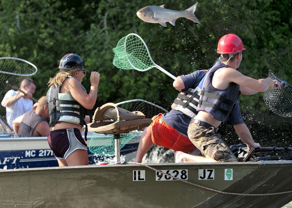 "The ""Redneck Fishing Tournament"" on the Illinois River. - JUDD MCCULLUM"