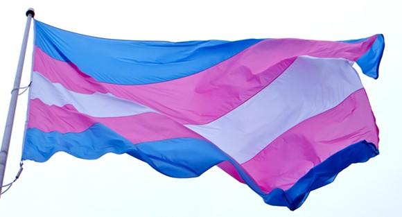 Transgender pride flag - PHOTO VIA FLICKR USER TORBAKHOPPER