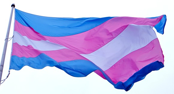 Transgender pride flag - PHOTO VIA FLICKR USER TORBAKHOPPER