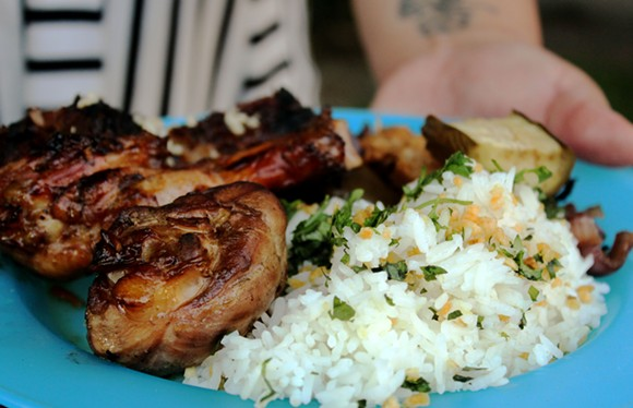 A dish from a previous Sarap pop up. - PHOTO BY LEXI TRIMPE