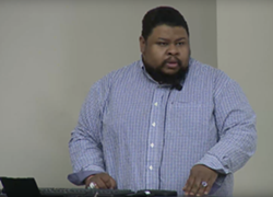 Michael Twitty During his talk at the University of Michigan