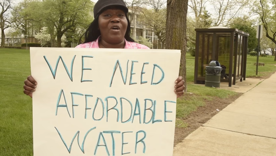Flint water rates, already among the highest in the nation, could double by the year 2022. - COURTESY OF THE ACLU OF MICHIGAN