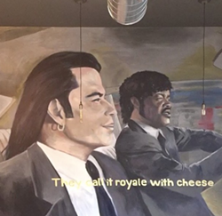 A mural inside Royale With Cheese. - ROYALE WITH CHEESE INSTAGRAM