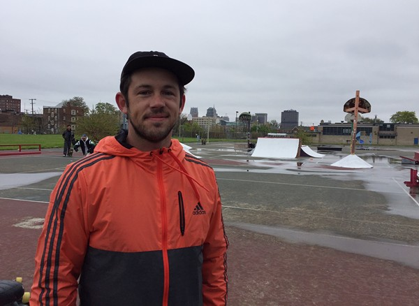 Derrick Dykas, 32, founder of Community Push, the non-profit behind the Wig Skatepark.