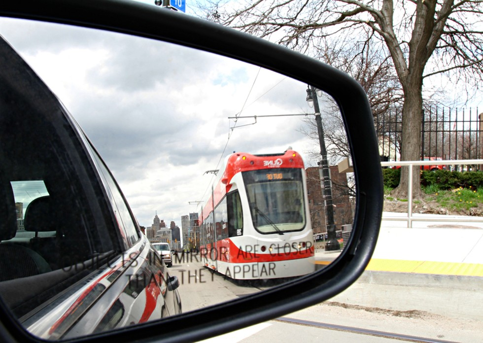 Detroit's QLine testing before its public debut. - SARAH RAHAL