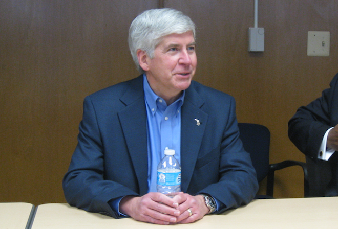 While 8,000 Flint households face losing their homes over unpaid bills for unsafe water, Gov. Snyder still has his pick of several places to hang his hat. - PHOTO BY CURT GUYETTE