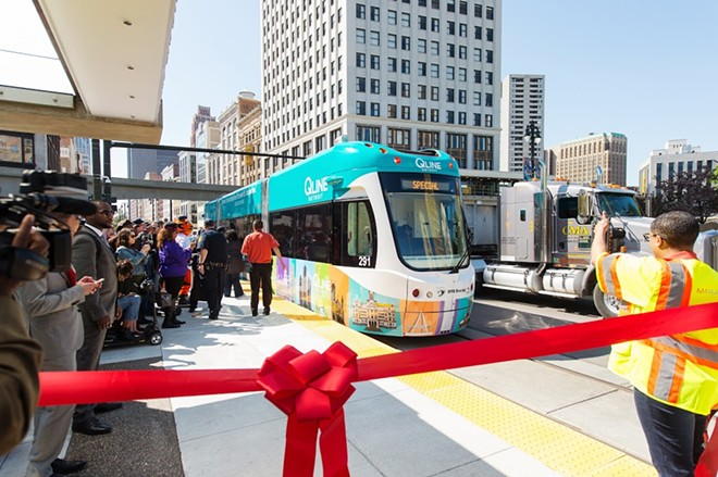 The QLine makes its debut in Detroit on May 12. - COURTESY M-1 RAIL