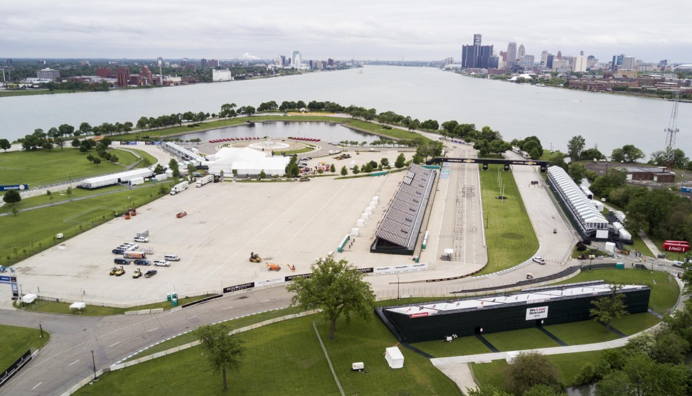 Park or race track? Belle Isle pictured on May 26, 2017. - JAMES PIEDMONT