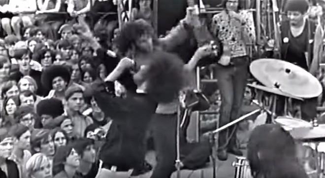 "YOUTUBE SCREENSHOT OF THE CLIP ""#MC5 REMASTERED TARTAR FIELD - RAMBLIN ROSE/KICK OUT THE JAMS/LOOKING AT YOU - JULY 1970."""