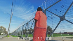 STILL FROM THE VIDEO TO 'FIRST DAY OUT.'