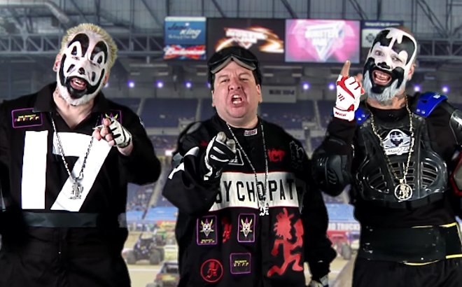 (Left to right) Violent J, J-Webb, and Shaggy 2 Dope as they appear in the new video - SCREEN CAPTURE FROM COMMERCIAL
