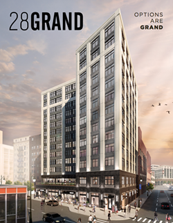 Bedrock's 28Grand building in Capitol Park will include 85 units for households making 60 percent of Area Median Income. - BEDROCK