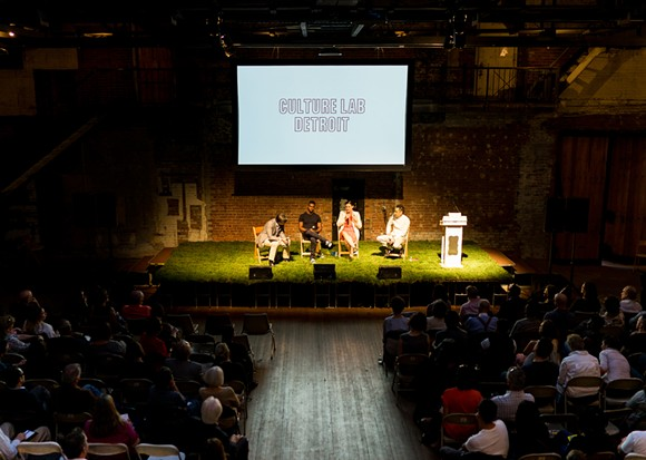 Culture Lab Detroit dialogue 2016 at the Jam Handy in 2016. - BRUNO VANZIELEGHEM