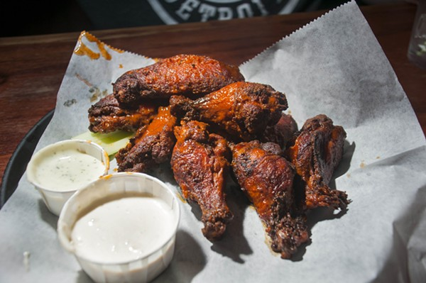 Wings from Sweetwater Tavern. - TOM PERKINS