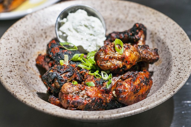 Buffalo wings from Gather. - TOM PERKINS
