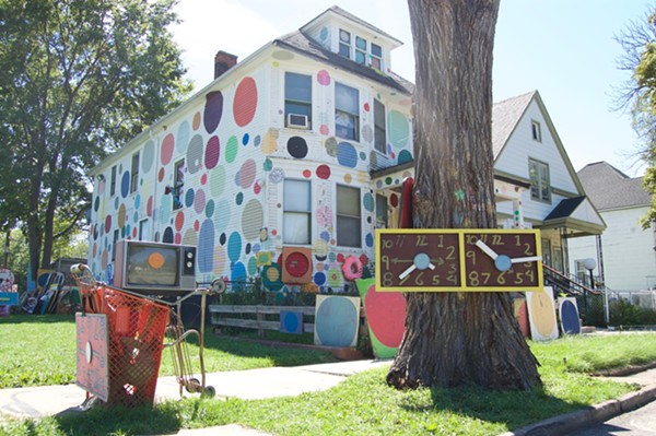 "The Heidelberg Project's ""Polka Dot House."" - LEE DEVITO"