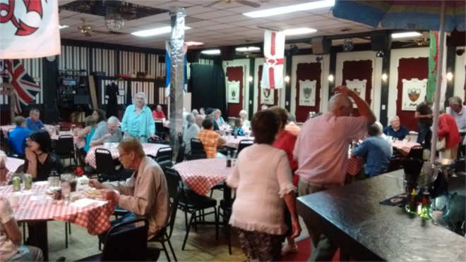 The banquet hall fills up with guests drawn by the Friday fish fry. - PHOTO BY MICHAEL JACKMAN