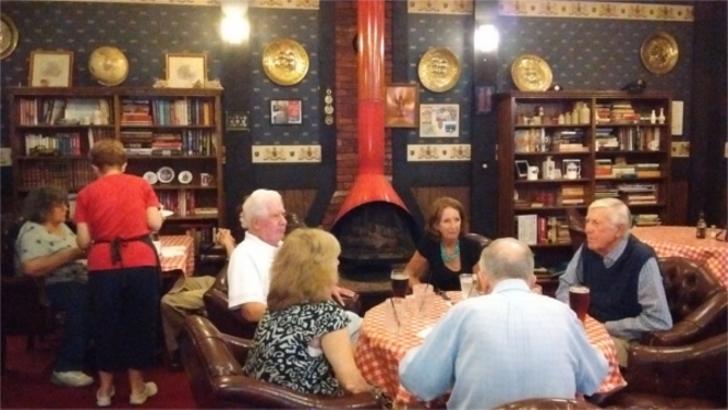 Lifelong friends gather for pints in the pub lounge. - PHOTO BY MICHAEL JACKMAN