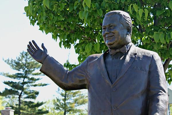 The Orville Hubbard statue. - ALEANNA SIACON/WAYNE STATE UNIVERSITY