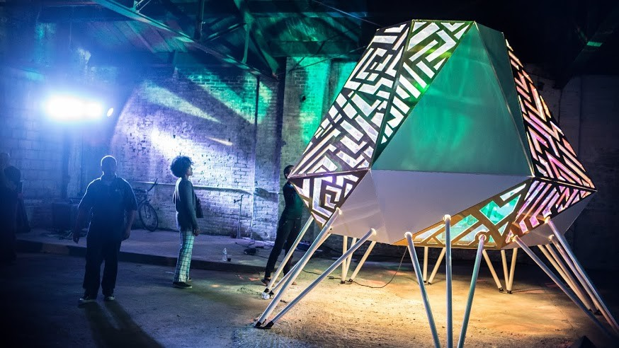 DAMI designed and produced an afrofuturistic outdoor visual art and live music performance in Detroit's North End, the city's unofficial Cradle of Funk, during the 2015 Detroit Design Festival. - DESMOND LOVE