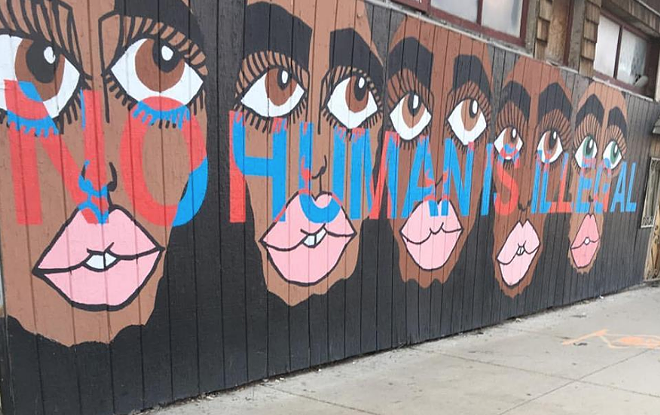 A mural by artist Marilyn Rondon outside of El Club in Southwest Detroit. - COURTESY EL CLUB'S FACEBOOK