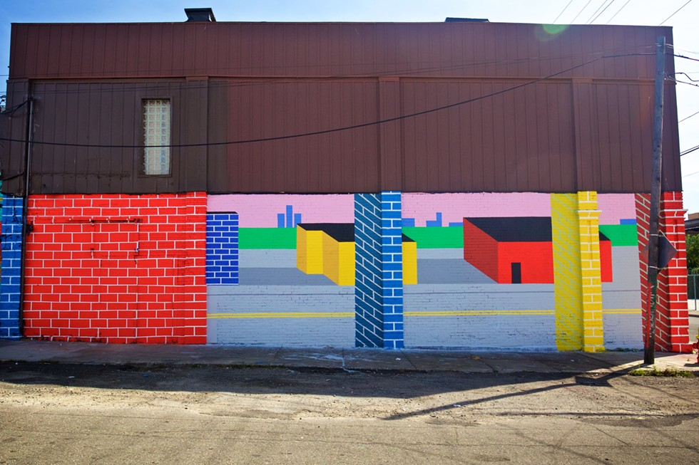 A mural created by artist Vaughn Taormina for the 2016 Murals in the Market festival. - COURTESY PHOTO