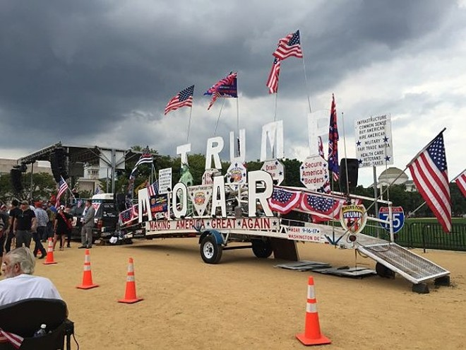 """The pro-Trump """"Mother of All Rallies"""" was scheduled for the same day as the Juggalo March,. - PHOTO BY ANJELIQA PRATT"""