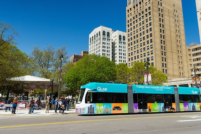 The QLine made its public debut on May 12. - COURTESY M-1 RAIL