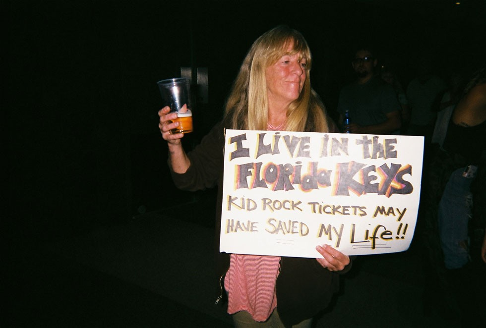 This Florida woman got a ticket to Kid Rock's Detroit show months ago, coincidentally allowing her to escape hurricane season. - LEE DEVITO