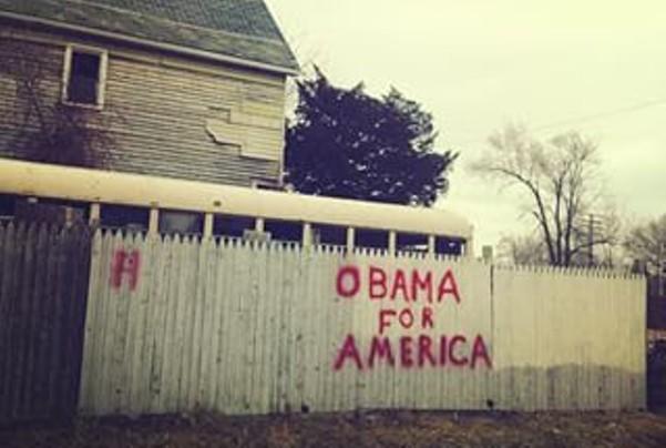 The Elmwood Fence, Feb. 2013. - VIOLET IKONOMOVA