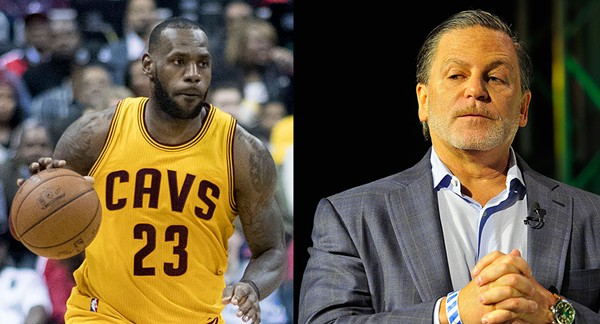 LeBron James and Dan Gilbert. - KEITH ALLISON/STEVE JENNINGS (WIKIMEDIA CREATIVE COMMONS)