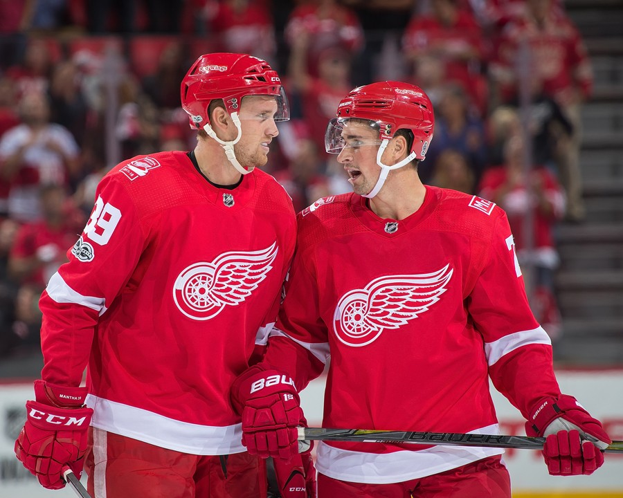 The future of the Red Wings: Anthony Mantha and Dylan Larkin. - COURTESY OF THE DETROIT RED WINGS