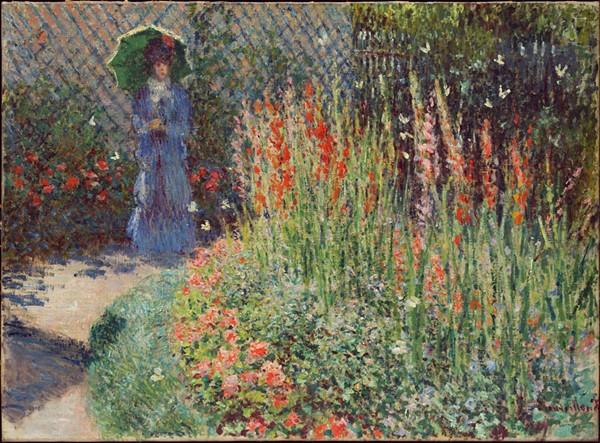 """""""Rounded Flower Bed (Corbeille de fleurs),"""" 1876, Claude Monet, oil on canvas. - DETROIT INSTITUTE OF ARTS"""