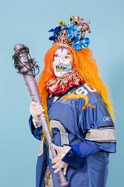 Artist Bailey Scieszka as demonic shapeshifter Old Put in 2017. - NICHOLAS CALCOTT
