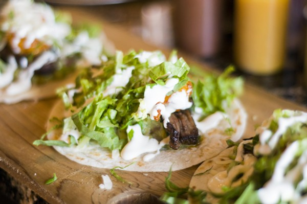 Surf and Turf Taco - TOM PERKINS
