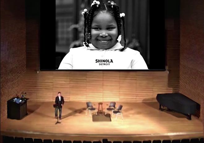 Modrak's re-creation of Jacque Panis' talk at the University of Michigan - COURTESY REBEKA MODRAK