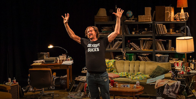 Erik Jensen as one-time Creem editor Lester Bangs. - IMAGE COURTESY PUBLIC THEATRE
