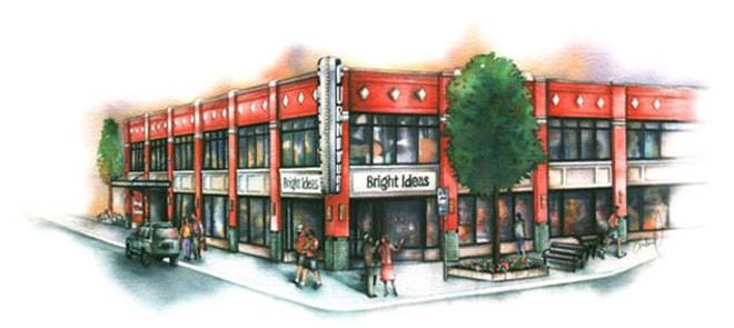 A rendering of the Bright Ideas building on Main Street. - PHOTO COURTESY OF ROYAL OAK DDA.
