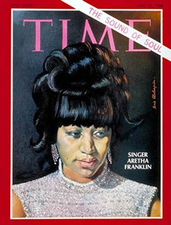 Aretha Franklin on the cover of Time Magazine in June of 1968. - PHOTO FROM TIME MAGAZINE.