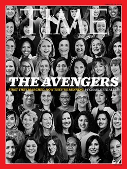Time magazine's Jan. 18 cover features two female first-time candidates from Michigan. - COURTESY PHOTO