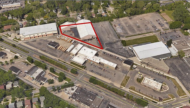 Site of proposed warehouse. - COURTESY GROSSE POINTE CITY