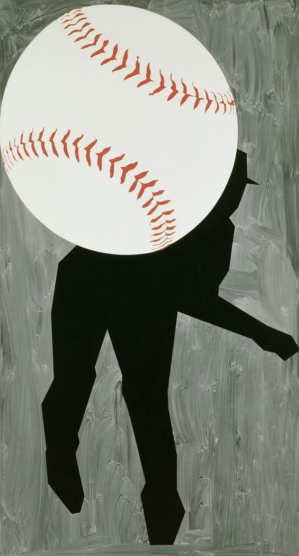 """HARD BALL III,"" 1993, ROBERT MOSKOWITZ, OIL ON CANVAS. DETROIT INSTITUTE OF ARTS"