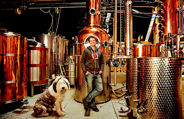 Valentine Distilling Co. owner Rufino Valentine and Sherbert. - MT FILE PHOTO
