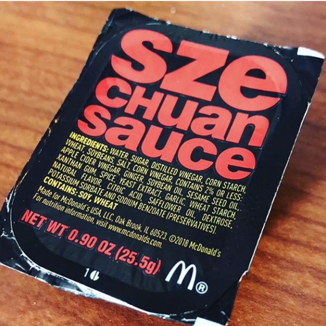 The sauce package in question. - ALYSA ZAVALA-OFFMAN