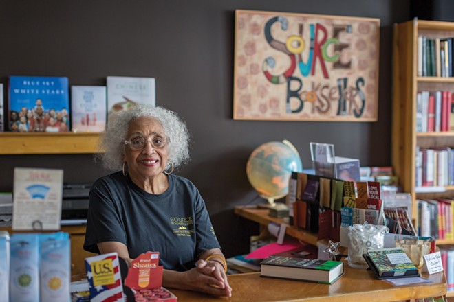Source Booksellers owner Janet Jones. - PHOTO BY JACOB LEWKOW.
