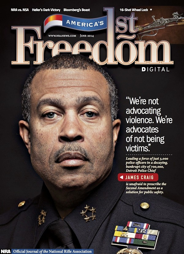 Chief Craig on the cover of a National Rifle Association publication in June 2014.