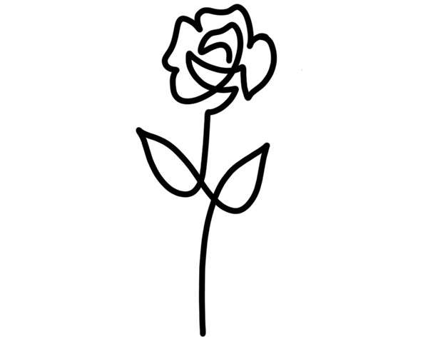 Metz-Caporusso created the simple rose outline. - COURTESY PHOTO